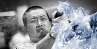 Akihiro Kakimoto working ice