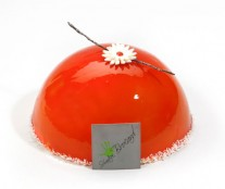 Frozen hemisphere cake by Sébastien Brocard.