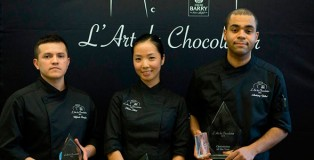 Wilfredo Barajas, Helen Hong and Anthony Vellut. Finalists L'art du chocolatier