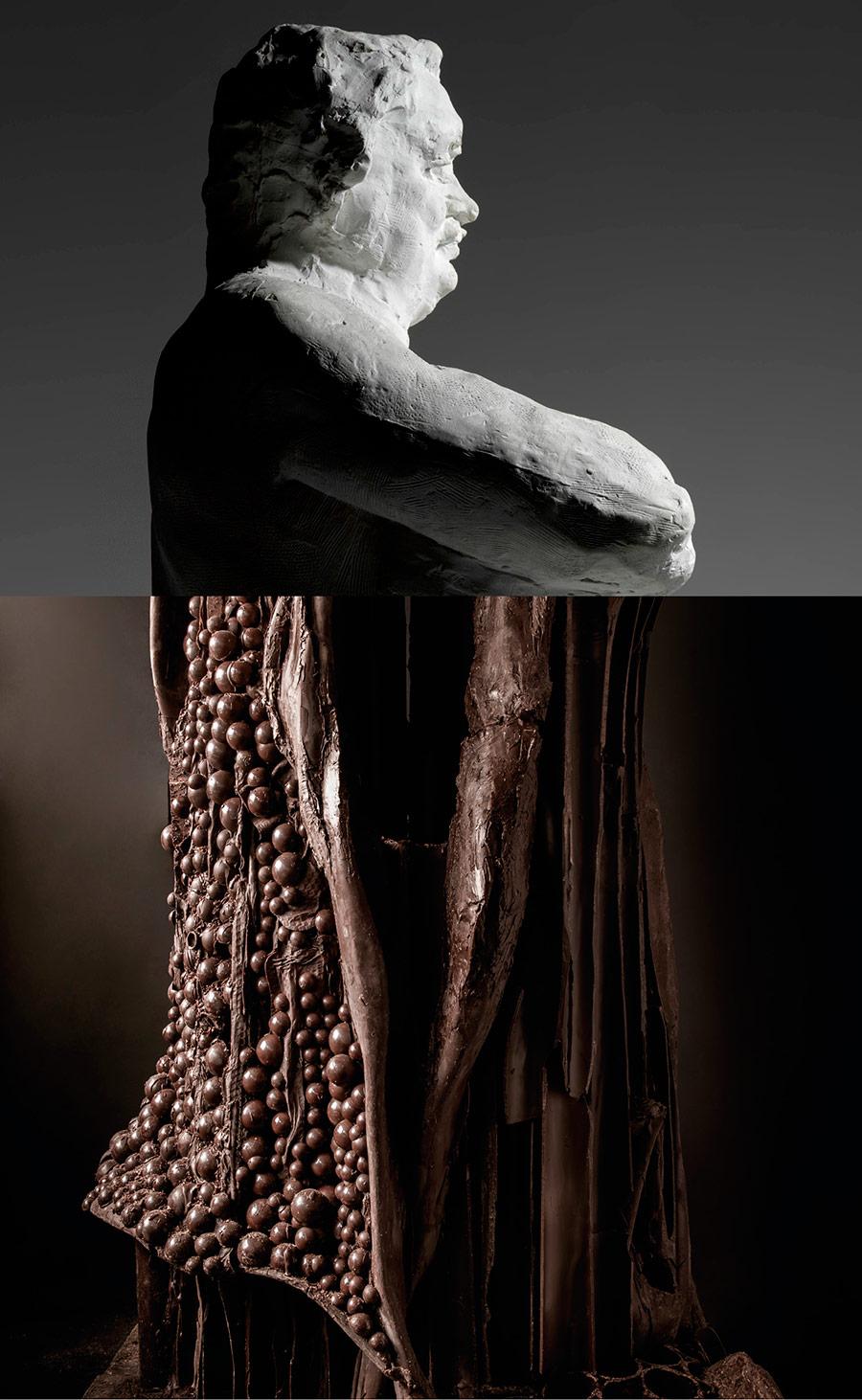 Sculpture balzac en chocolat patrick roger - Sculpture en chocolat patrick roger ...