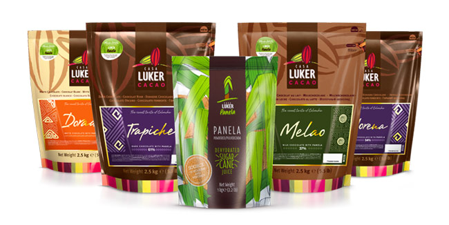 Panela as an essential ingredient to sweeten its chocolate couvertures, by CasaLuker