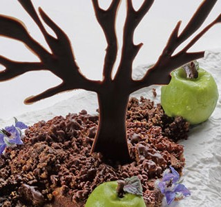 Under the tree plated dessert by Eric Ortuño