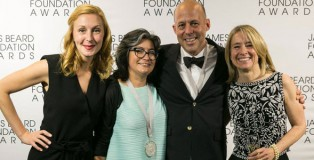 Christina Tosi (Outstanding Pastry Chef 2015), Dahlia Narvaez (Outstanding Pastry Chef  2016), Jim Haley (Outstanding Baker 2015) and JBF board chair Emily Luchetti. Photo: Huge Galdones Photography / JBF