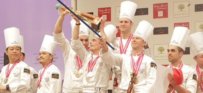 Toujours la France. The French team prevails in the Coupe du Monde de Pâtisserie