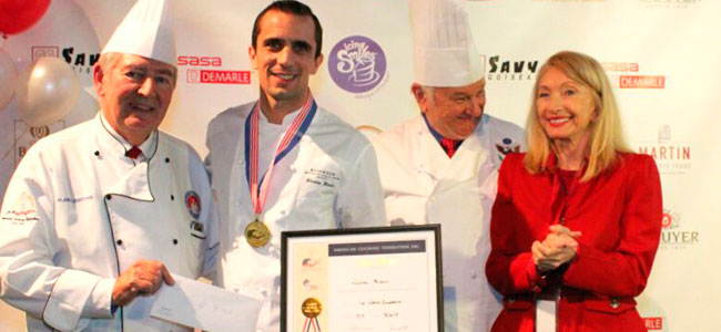 Nicolas Blouin wins the ACF Competition at the Lenôtre National Symposium