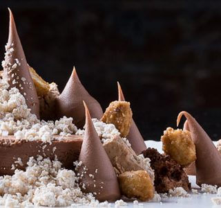 Illanka abstract by Lincoln Carson with peanut and crunchy mousse