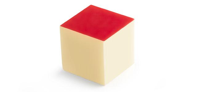 Cubic color bonbons by Pierre Marcolini