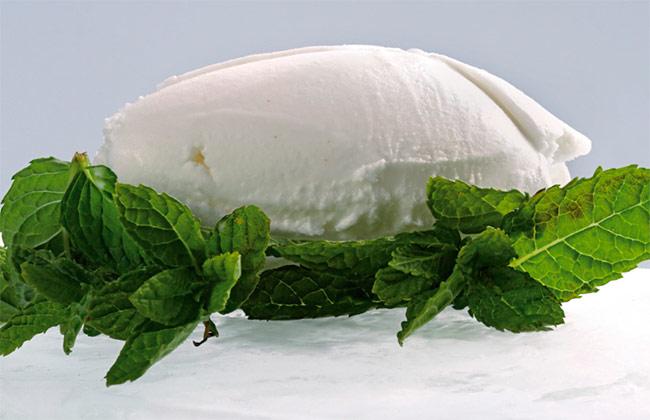 Mojito sorbet using flavored sugars
