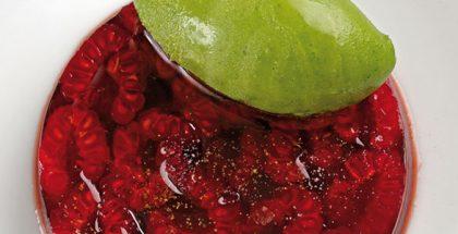 Strawberry aspic