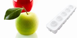 Mela, Ciliegia & Pesca 115: 3D fruit with Silikomart Professional mould