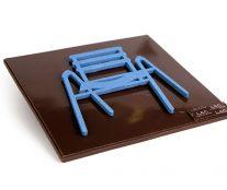Chaise de SAB in chocolat
