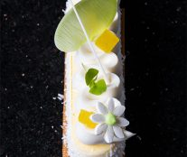 Aerial view yogurt cheesecake by Bachour