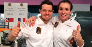Luc Beziat and Marie Simon. French team at Mondial des Arts Sucrés 2018