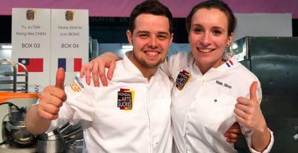 Luc Beziat and Marie Simon. French team at Mondial des Arts Sucrés 2018