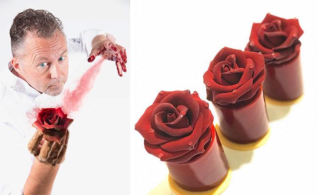 Red vekvet rose by Michel Guillaume