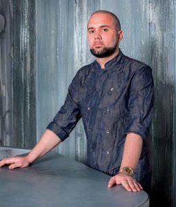 Oliver Peña, head chef of Enigma