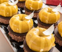 oval yellow pastry Bachour