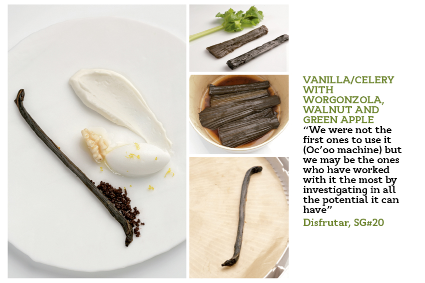 Celery transformed into vanilla pod