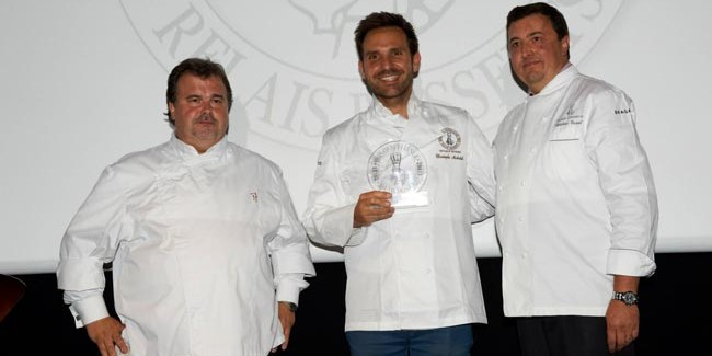 Christophe Michalak, elected best pastry chef of the year by Relais Desserts