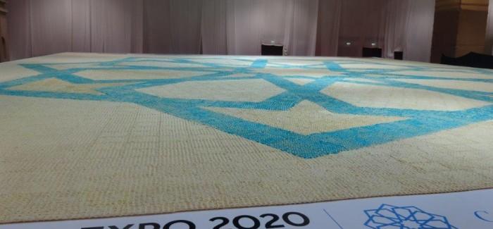 The Dubai Expo 2020 logo is turned into the world's largest truffle mosaic