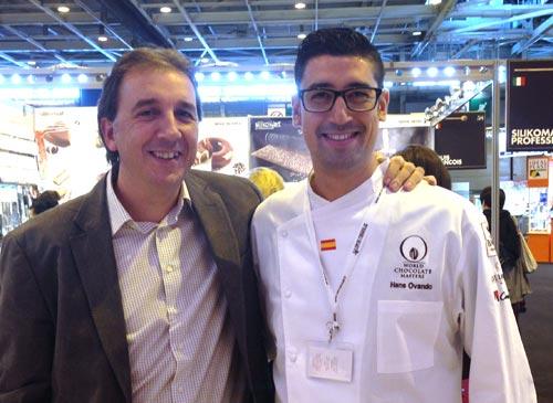 Our contents director, Alberto Ruiz, and Hans Ovando