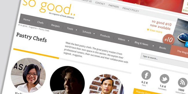 A new website to better respond to the needs of the professional pastry chef