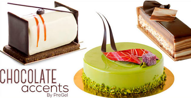 Chocolate accents by pregel