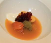 Ricard Martínez . Apricot, cucumber and yoghurt.