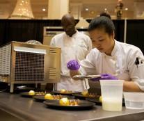 Angela Kim, winner of the Signature Plated Dessert.