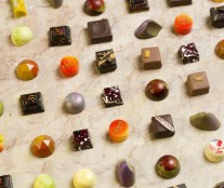 Some of the bonbons that competed  for the Chocolatier of the Year.