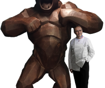 The four-metre tall chocolate King-Kong