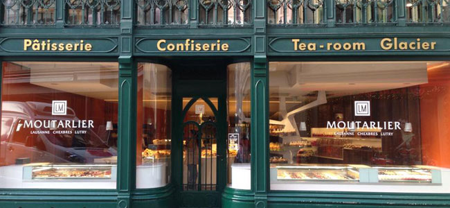 A new image for the Confiserie Moutarlier tea room in Lausanne