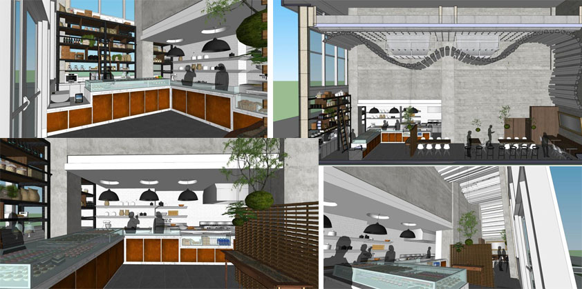 Some sample images of the future Bachour Desserts shop in Miami