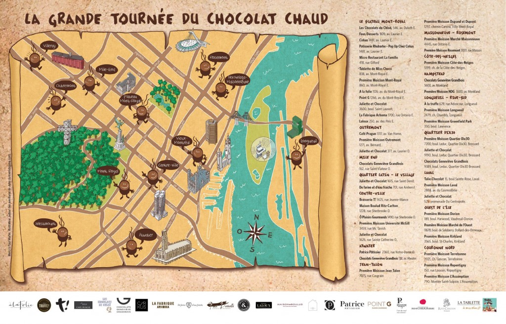 Map La Grande Tournée du Chocolat Chaud