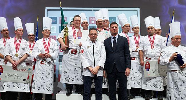 Podium Coupe du Monde de la Pâtisserie