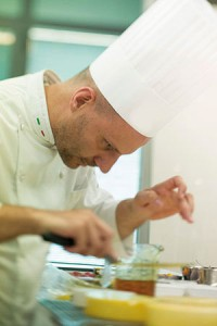Leonardo di Carlo cooking
