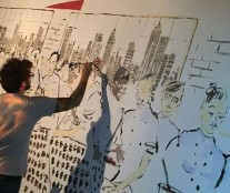 Live painting during Grand Opening