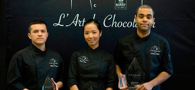 Antony Vellut, winner of L'Art du Chocolatier 2015
