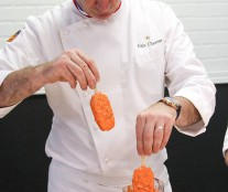 Alain Chartier preparing popsicles