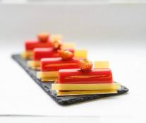 Strawberry and pistachio petit gateaux