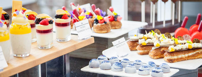 Antonio Bachour's dessert buffet at the École in Brooklyn