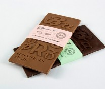 Typographic bars of chocolate