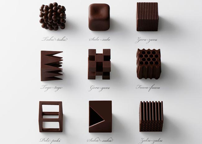 The Chocolatexture collection by Nendo