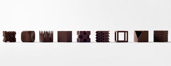 Chocolatexture: Nendo's new chocolates with different textures