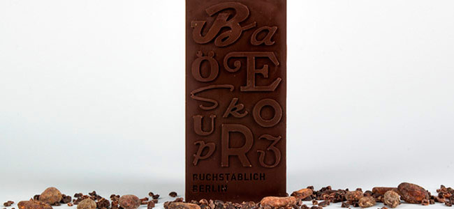 Typographic Chocolate at the Museum of Letters in Berlin