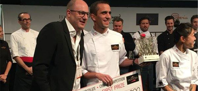 Nicolas Blouin wins the Valrhona C3 Pastry Competition