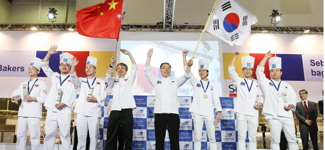China and South Korea, winners of the Asia Pacific Selection of the Coupe Louis Lesaffre