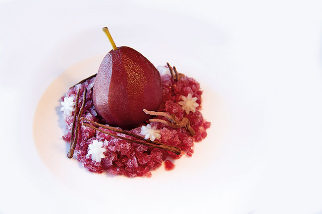 Red Wine and Chocolate Pear by Yves Scherrer