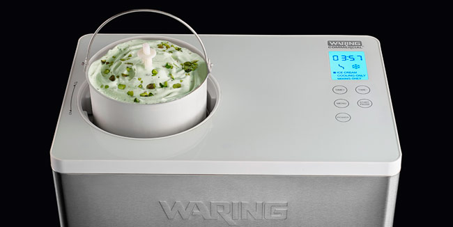 New compressor machine for ice cream, by Waring