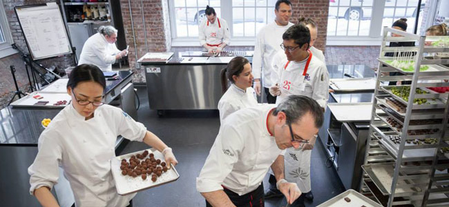 Bachour, Mampel, Reid and Fusto in the 2017 school calendar for Valrhona Brooklyn
